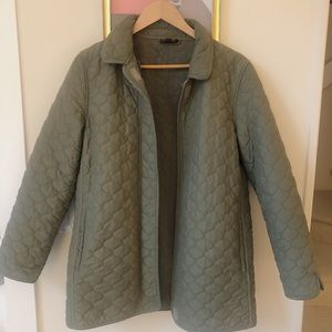 VINTAGE Green Quilted Jacket